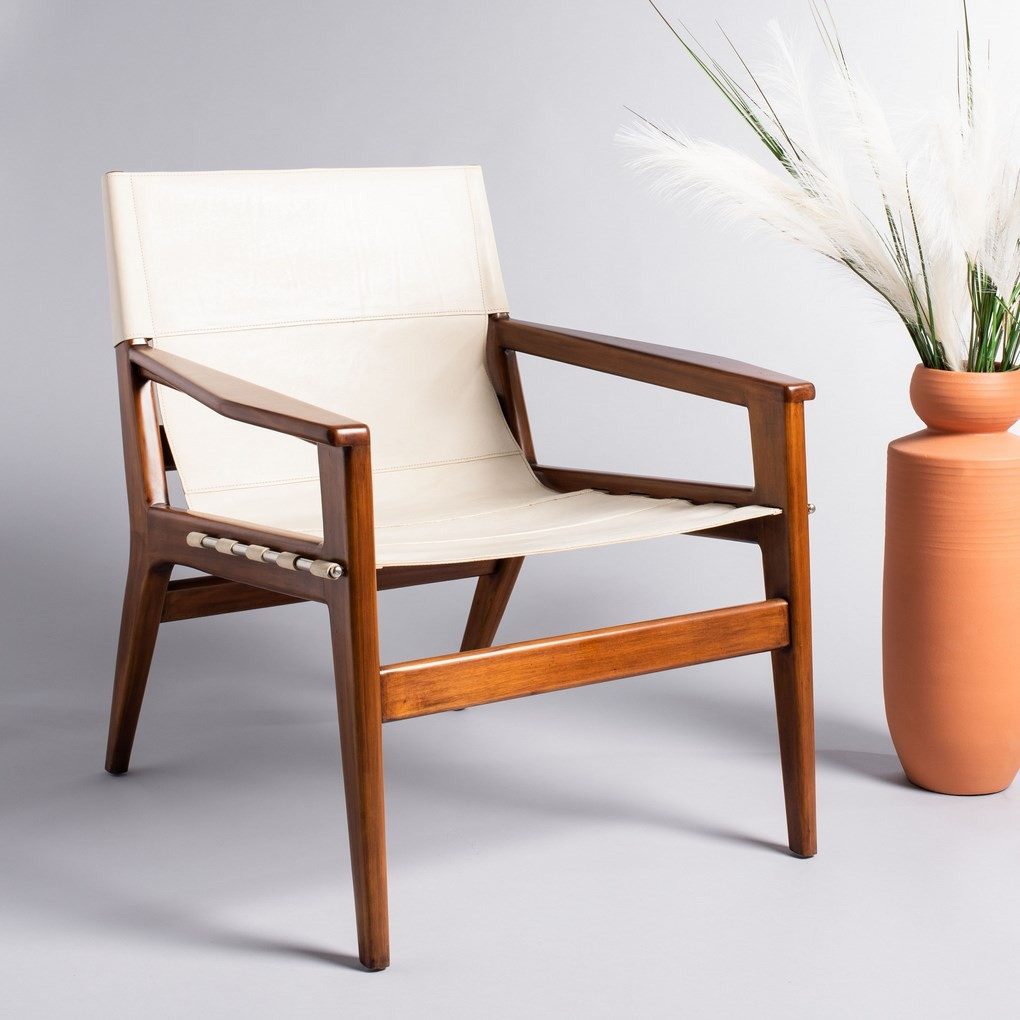 Jensen Leather Sling Chair