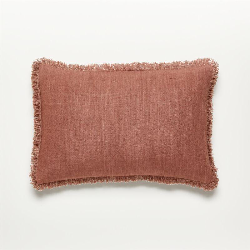 "18""x12"" Eyelash Mauve Pillow with Down-Alternative Insert"