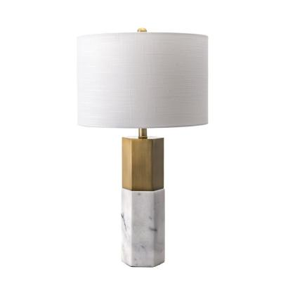 nuLOOM 27 in. Marble Lafayette Marble Indoor Table Lamp