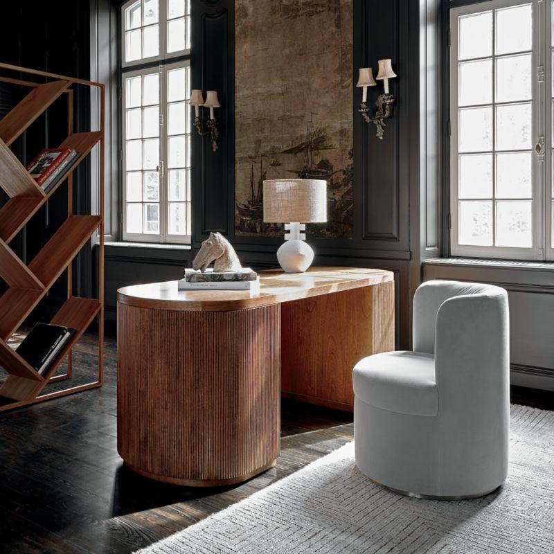 Domani Textured White Table Lamp