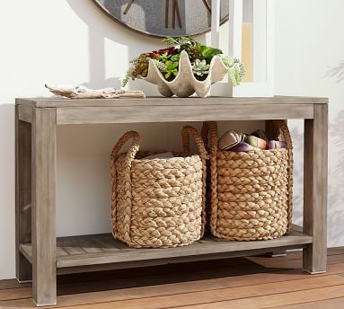 Indio FSC(R) Eucalyptus Console Table, Weathered Gray