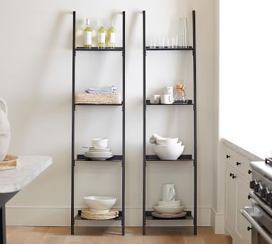 Temple Street Ladder Shelf, Black