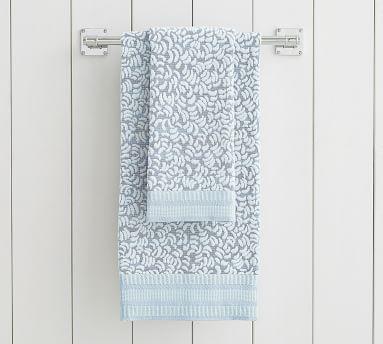 Rebecca Atwood Swirl Sculpted Towel, Bath, Blue