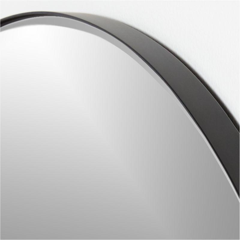 "Edge Black Round 36"" Wall Mirror"
