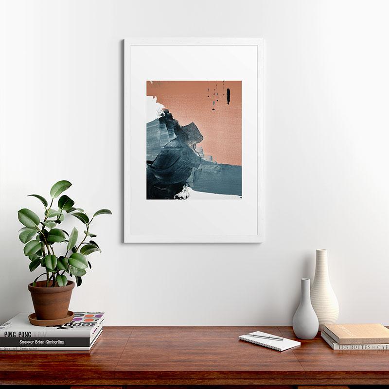 "Renew A Minimal Abstract Piece by Alyssa Hamilton Art, Classic Framed Art Print, White, 24"" x 36"""