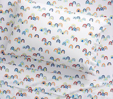 Rainbow Sheet Set, Twin, Pink Multi