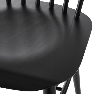 Ton Ironica Dining Side Chair, Black