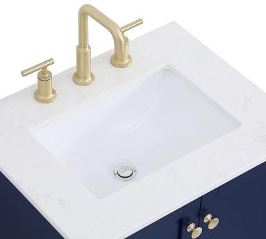 "White Moro Single Sink Vanity, 24"""