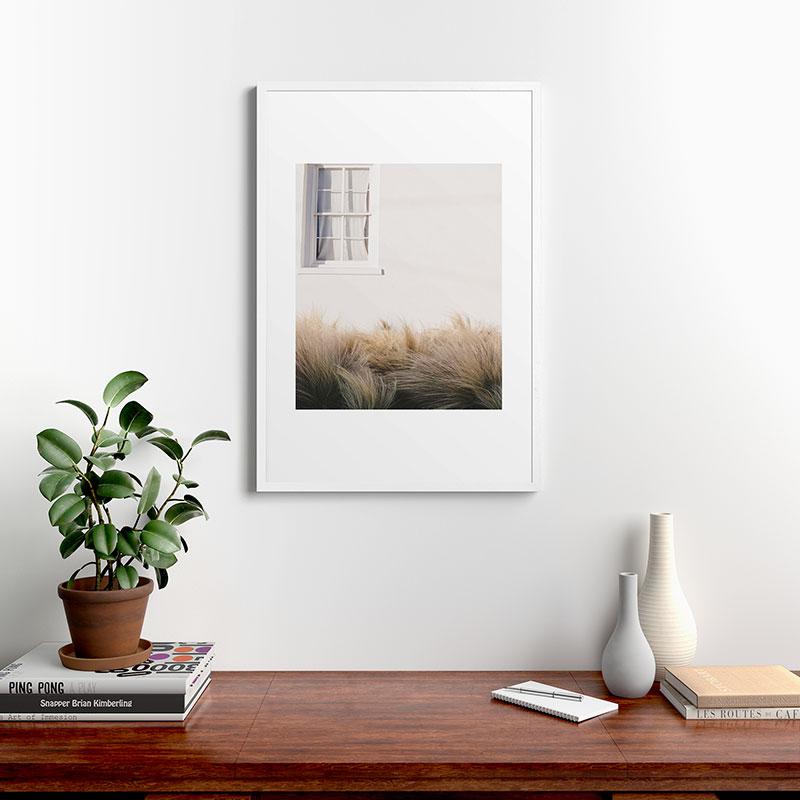 "Marfa Minimalism by Ann Hudec, Modern Framed Art Print, White, 24"" x 36"""
