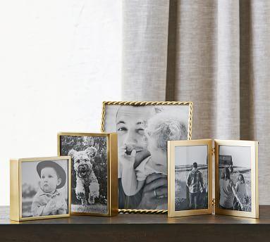 """Hagen Picture Frame, Brass, 5"""" x 5"""""""