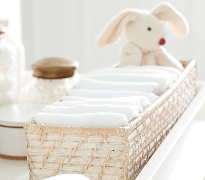 Quinn Changing Table Storage, Small, White Washed