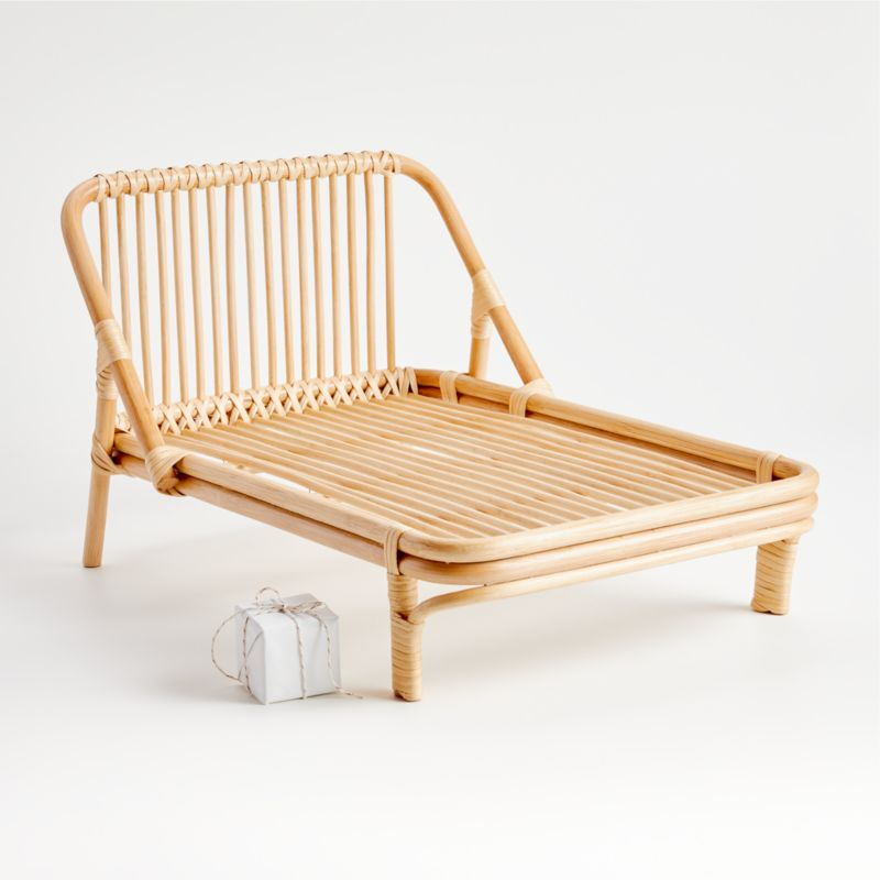 Rattan Doll Bed