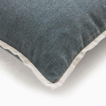 """Classic Cotton Velvet Pillow Cover, 20""""x20"""", Slate"""