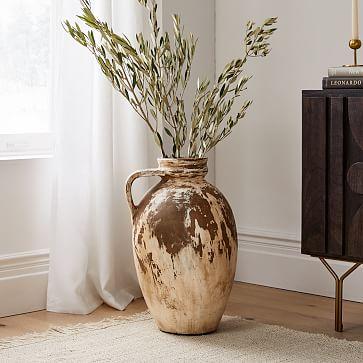 Farmhouse Antique Ivory Vase
