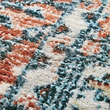 Distressed Nadine Made to Order Rug, Cayenne, 6'x9'