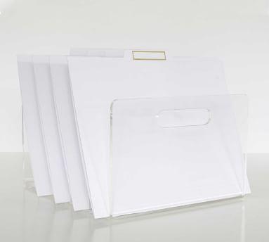 "Acrylic File Organizer, 10.5""w x 12""L"