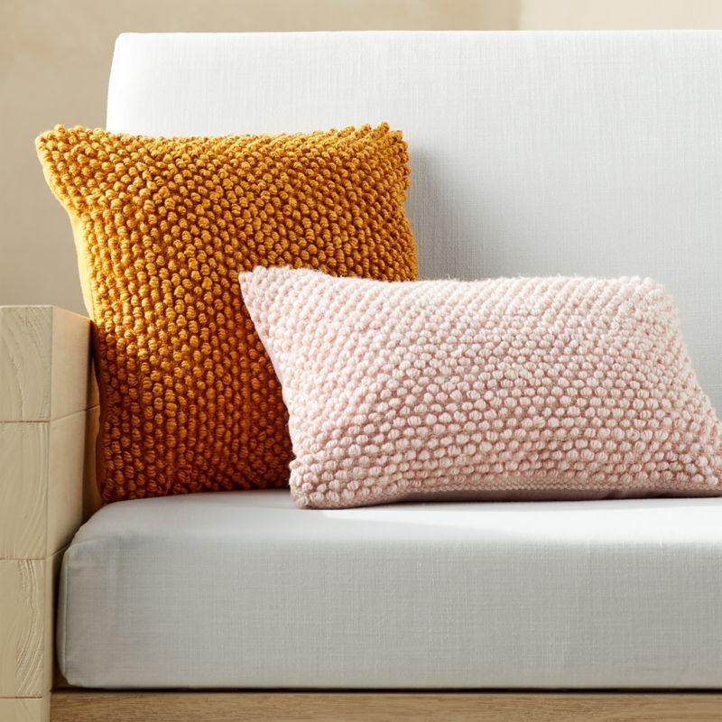 """16""""x16"""" Phaedra Outdoor Mustard Loop Pillow"""