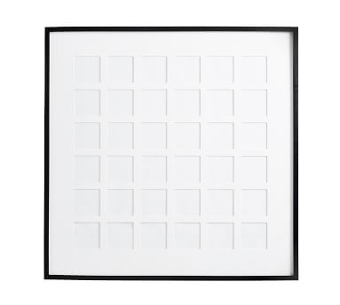 "Wood Gallery 36-Opening Frame - White (38"" x 38"" without mat)"