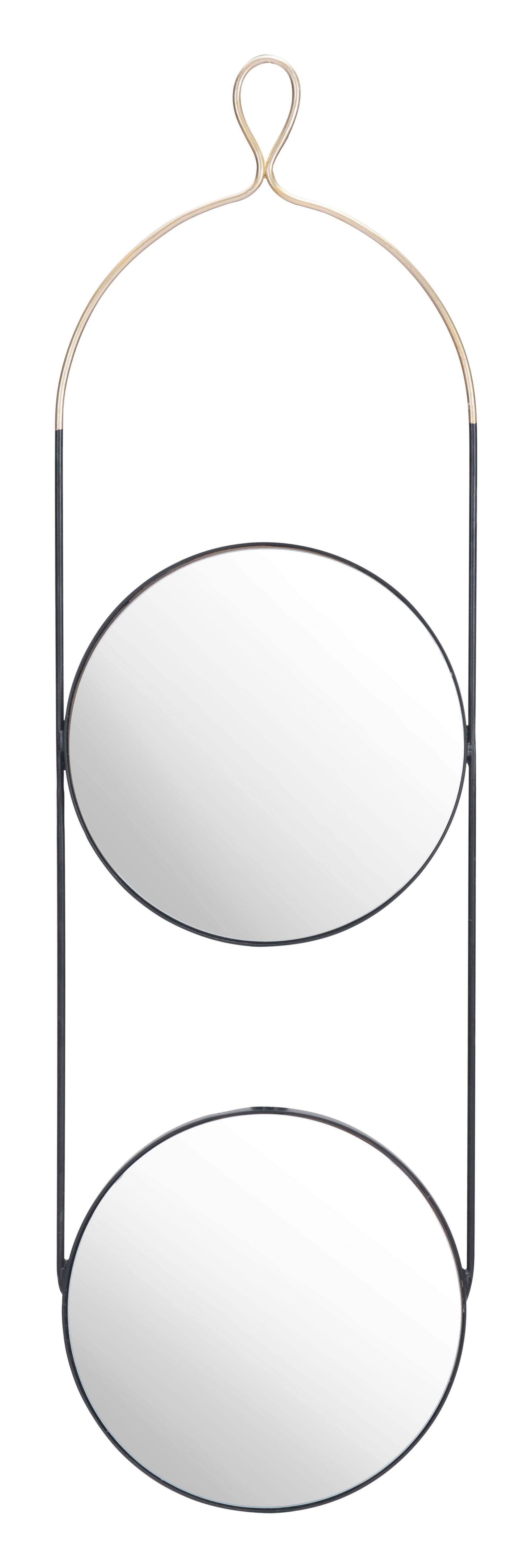 Zodiac Round Mirror Gold & Black