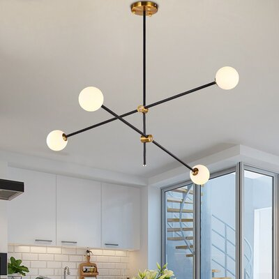 Glenam 4 Light Sputnik Modern Linear Chandelier Wayfair