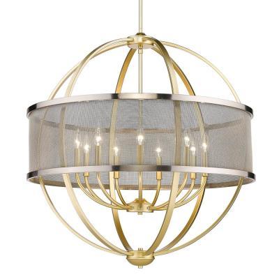 Golden Lighting Colson 9-Light Olympic Gold Globe Chandelier