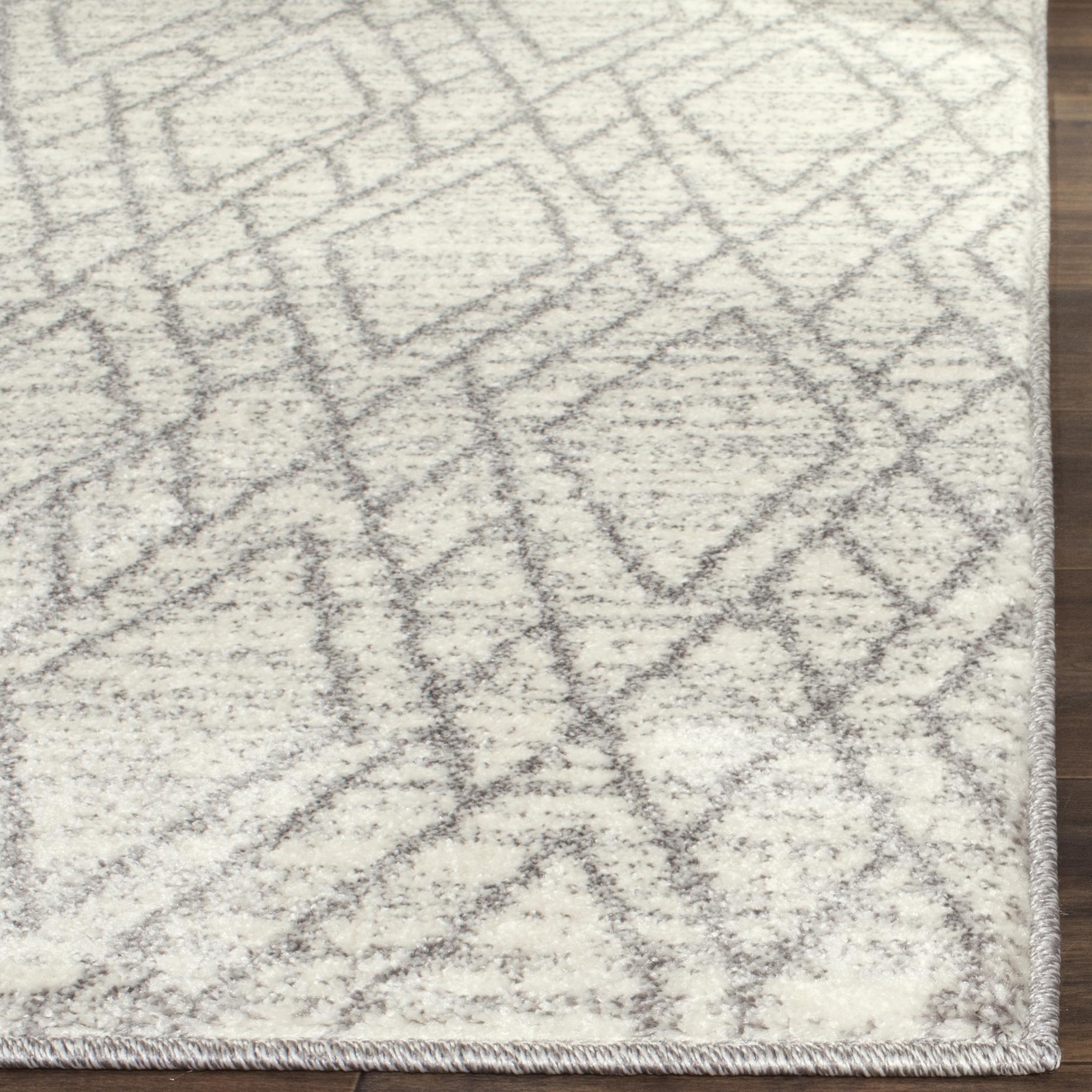 "Woven Area Rug, Ivory & Light Gray, 6' 7"" x 9' 2"""