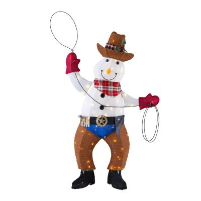 Home Accents Holiday 4 ft LED Cowboy Snowman