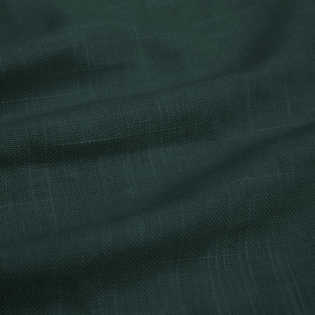 Williams Bed, Full, Linen Conifer Green, Pewter Nailheads