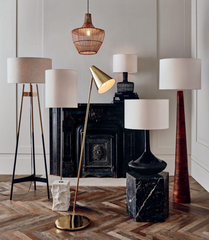 Brixton Acacia Floor Lamp