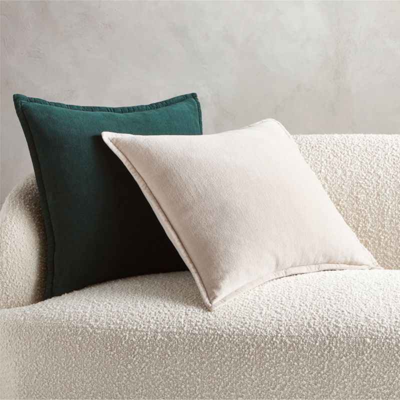 """20"""" Ava Tan Pillow with Feather-Down Insert"""
