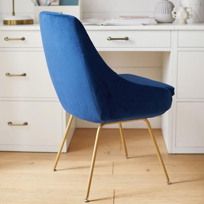 Mathis Chair, Navy Velvet