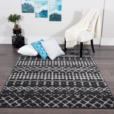 Baez Geometric Black Gray Area Rug Wayfair