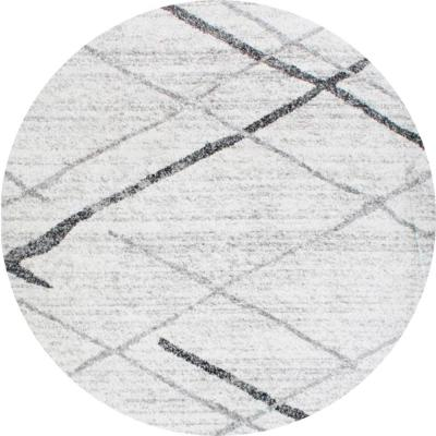 nuLOOM Thigpen Contemporary Gray 5 ft. Round Rug