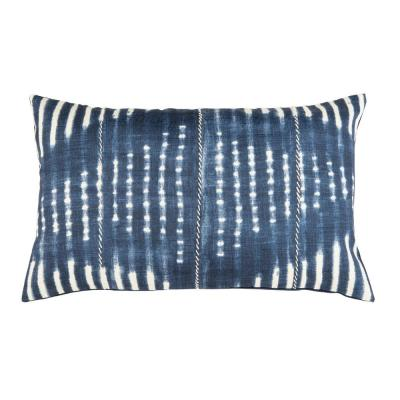 Safavieh Laurena Blue/Cream 20 in. x 12 in. Throw Pillow