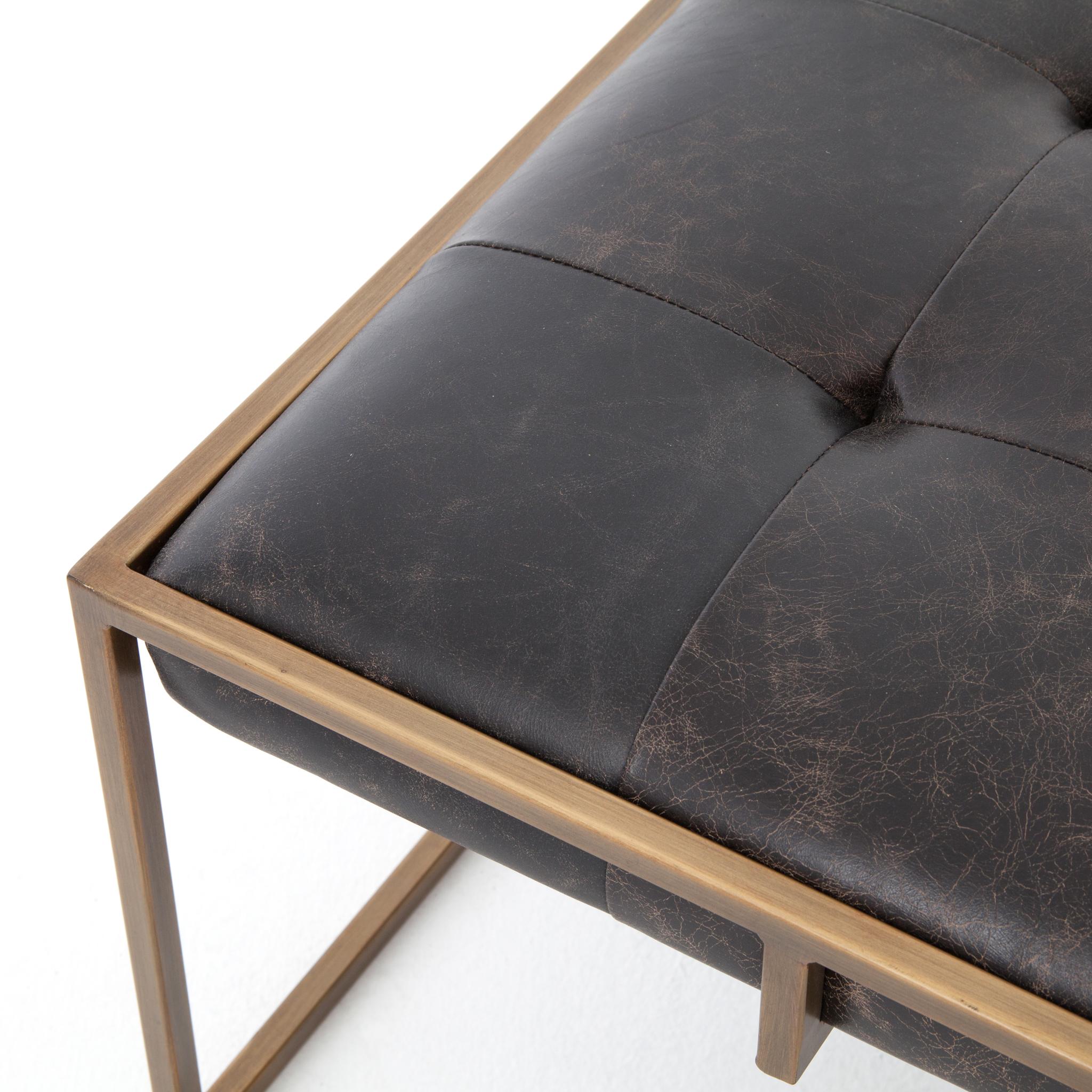 Olwina Square Coffee Table, Railto Ebony