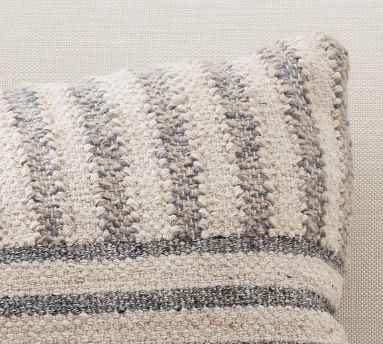 "Liam Eco-Friendly Indoor/Outdoor Pillow, 16 x 26"", Gray"