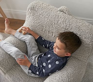 Gray Cozy Sherpa Anywhere Chair(R)