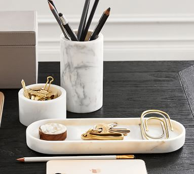 Marble Desk Accessory, Low Bowl