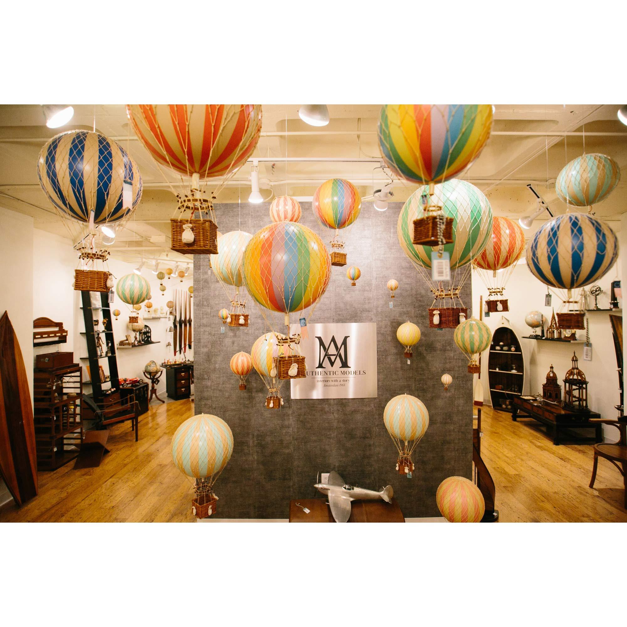 George Modern Classic Blue Royal Hot Air Balloon Miniature