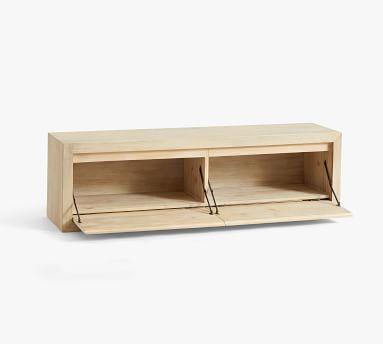 "Folsom Bench with Cubbies, Desert Pine, 58""L"