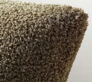 "Cozy Teddy Faux Fur Pillow Cover, 20 x 20"", Sand"