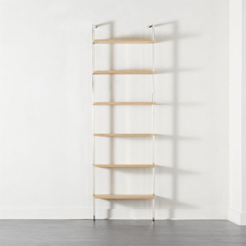 "Helix 96"" Bleached Oak Bookcase"