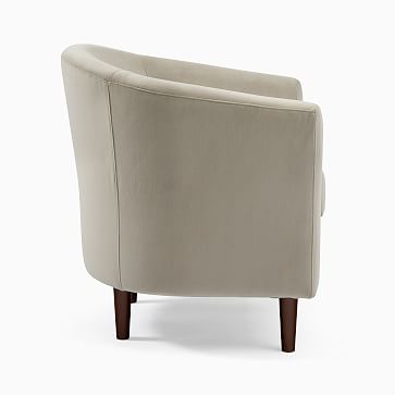 Mila Chair, Poly, Performance Washed Canvas, White, Auburn