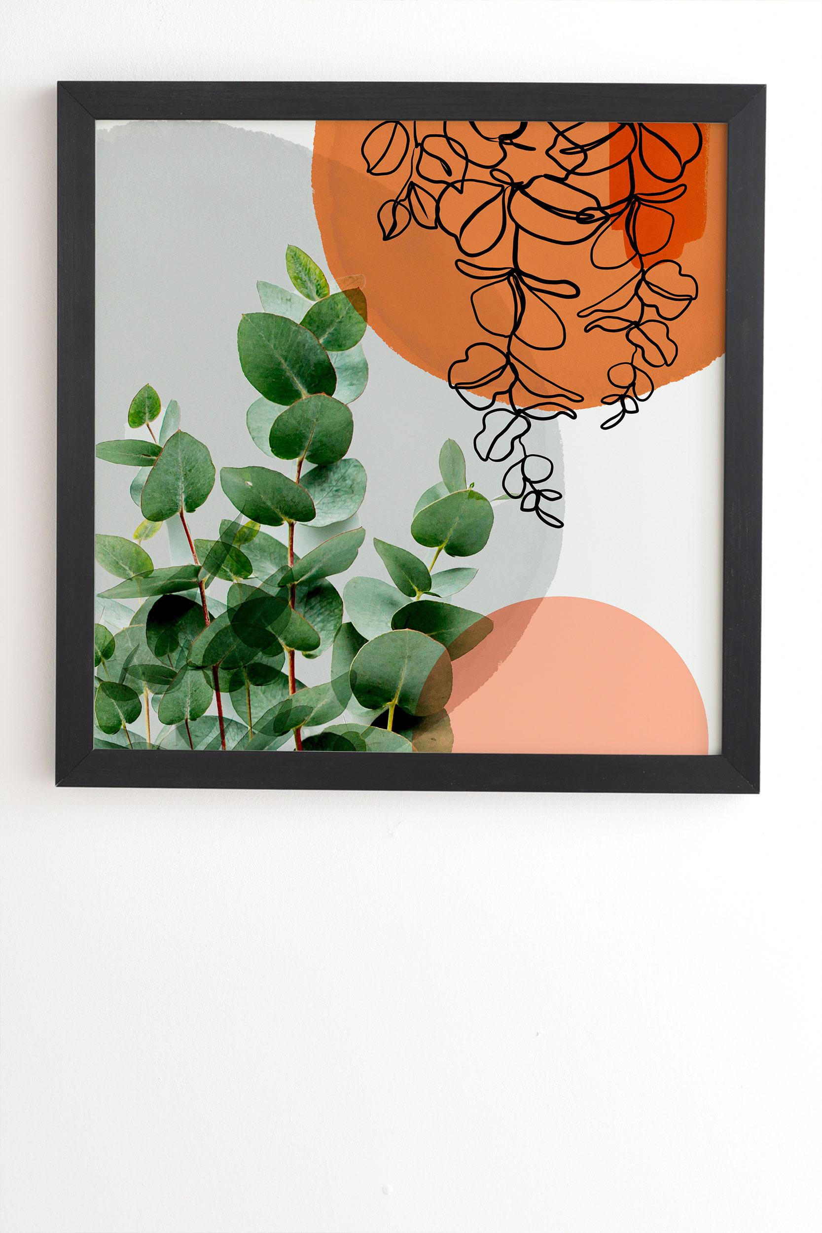 "Simpatico V4 by Gale Switzer - Framed Wall Art Basic Black 12"" x 12"""