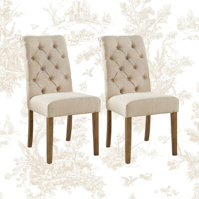 Ashcraft Tufted Upholstered Side Chair  Ashcraft Tufted Upholstered Side Chair  Ashcraft Tufted Upholstered Side Chair  Ashcraft Tufted Upholstered Side Chair Ashcraft Tufted Upholstered Side Chair (Set of 2)