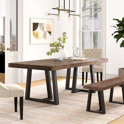 Abel Pine Solid Wood Dining Table