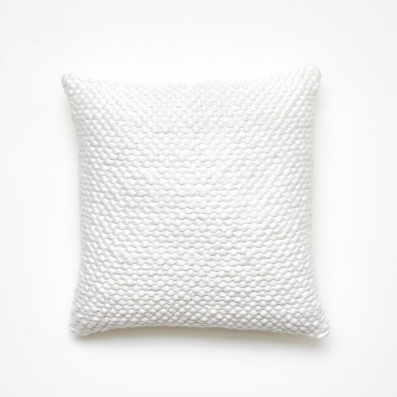 """18"""" Remy White Pillow with Down-Alternative Insert"""