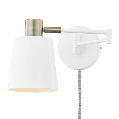 Light Society Alexi Plug-In Wall Sconce in White