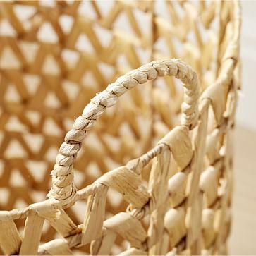 Open Weave ZigZag Baskets, Large