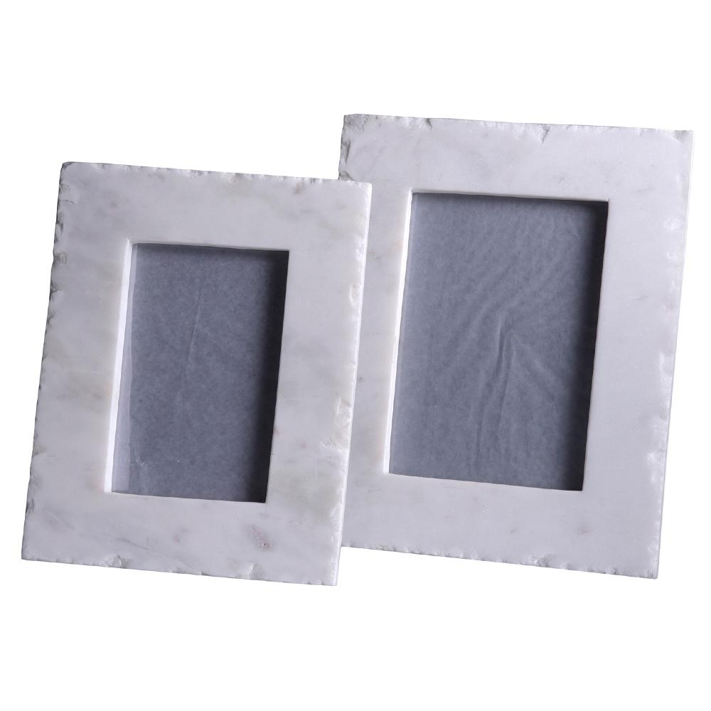 Carlyn Modern Classic White Marble Photo Frame - 5x7